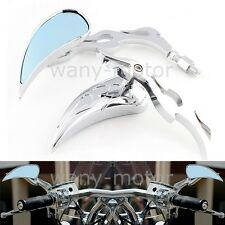 Chrome Motorcycle Rearview Mirrors For Yamaha V-Star 650 950 1100 1300 Classic