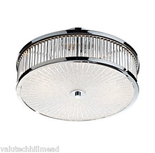 Dar Lighting Aramis 3 Light Flush Ceiling Light 23cm H x 40cm W x 40cm D