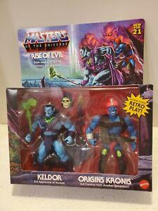 RISE OF EVIL KELDOR CRONIS Masters of the Universe Origins MOTU Target Exclusive