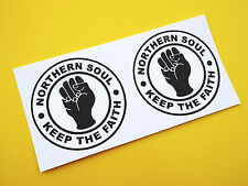 VESPA SCOOTER 'NORTHERN SOUL 'Keep The Faith' stickers decals