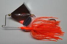 "1/2 Oz. Custom Made ""Head Thumper"" Topwater Buzzbait Lure(Orange) - Bass Fishing"