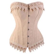 Bustier Corset Top Burlesque Basque Moulin Rouge Fancy Dress Boned Shaper US