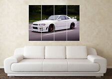 Large Nissan Skyline R34 GTST GTS RB Wall Poster Art Picture Print