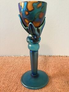 COLIN HEANEY art glass candlestick - 2007 Byron Bay Australia