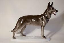 German Shepherd Porcelain Figurine. Figur Schäferhund. Pfeffer Porzellan - Gotha