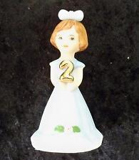 1982 Enesco Growing Up Girls Brunette Figurine Age 2 E-9526