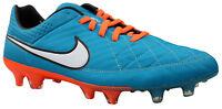 Nike Tiempo Legend V FG Herren Fußballschuhe Leder Nocken blau Gr. 39 40,5 NEU