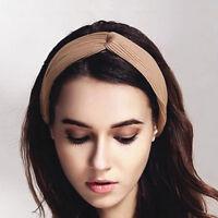 Women Bow Knot Cross Tie Headwrap Headband Twist Hairband Hair Band BB