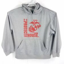 Under Armour 'Protect This House' Gray Polyester Hoodie Sweatshirt, Mens Large