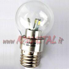 LAMPADA SFERA 5W / 50W SMD E27 FREDDA LAMPADINA LED LUCE LAMPADINE ATTACCO CASA