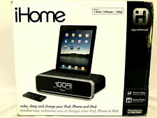 iHome Docking Station Alarm Clock for iPad iPhone & iPod With Remote