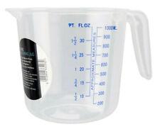 1 Litre Measuring Jug By Chef Aid FL.Oz & ML Measurement Clear Plastic Jug