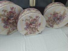 Floral Hat Boxes Set of 3