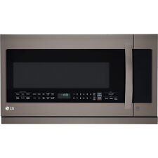 LG 2.2 cu.ft. 1000 Watts Over-the-Range Microwave Oven in Black Stainless Steel