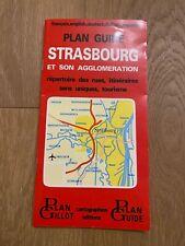 Carte Plan Guide GILLOT ❤️ STRASBOURG et son Agglomération 1994 Edition 2 - Map
