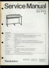 Rare Original Factory Technics SX PX5 PCM Digital Piano Service Manual