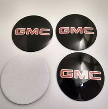 4x GMC 65mm BLACK WHEEL CENTER CAP DECAL STICKER Emblem YUKON ACADIA TERRAIN
