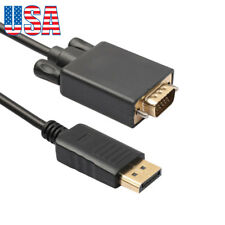 6FT/ 1.8M DisplayPort DP Plug to SVGA VGA HD M-M Plug Digital Video Cable 15PIN