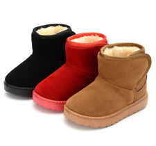 Child Kid Girl Boy Snow Boot Fur Warm Ankle Boots Baby Winter Warm Casual Shoes