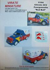 "V104 CITROEN 2 CV FOURGONNETTE SERVICE COURSE CITROEN ""RED BULL"" DECALS VIRATE"
