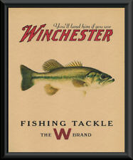 Winchester Largemouth Bass Fishing Tackle Ad Reprint On 90 Year Old Paper *P075