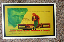 Rebel Without A Cause Movie poster Lobby Card James Dean