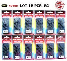 Treble Hook LOT 12 pcs pack #4 YO ZURI DUEL Japan Saltwater outbarb+split rings