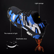 UK Men's Safety Shoes Steel Toe Trainers  Cap Work Boots Hiking Shoes Breathable