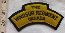 Military WW2 The Windsor Regiment Canada Canadian Cloth Shoulder Badge (66)