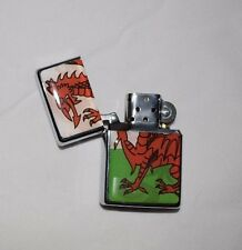 Welsh Flag Windproof Petrol Lighter Refillable Welsh Dragon Wales / Welsh Theme