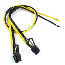 New Dual PCIe PCI-E Graphic Video Card 8pin 6+2pin DIY Splitter Power Cable Cord