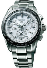 New Seiko Astron Solar GPS Dual-Time Titanium Men's Watch SSE047
