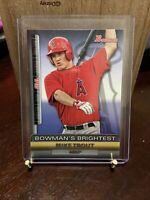 Mike Trout RC 2011 Bowman Brightest BBR6 Speed Angels Rookie Future HOF!
