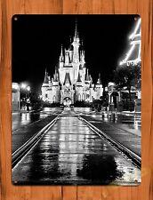 "TIN SIGN ""Walt Disney World Castle"" Mickey Decor Ride Art Poster"
