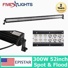 52INCH 300W EPISTAR LED WORK LIGHTS BAR SPOT FLOOD DRIVING OFFROAD BAR 4WD SUV