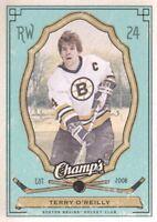 2009-10 Upper Deck Champ's Hockey Green #7 Terry O'Reilly Boston Bruins