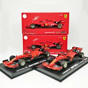 BBURAGO 1:43 Signature Series 2019 FERRARI F1 SF90 #16 Charles Leclerc #5 Vettel