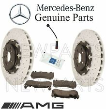 For Mercedes R190 C190 AMG Front Brake Kit 2 Disc Rotors 4 Pads Set 1 Sensor OE