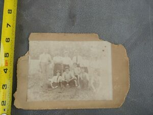 Antique Early Baseball Cabinet picture Photo Baseball and catcher mask