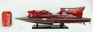 "Ferrari Hydroplane 20"" Classic Wooden Speed Boat Display Model"