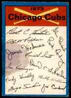 1973 O-Pee-Chee Chicago Cubs .