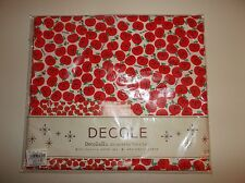 Decole Decolello Yuka Saji Cotton 100% Fabric Red Apples Japanese Kawaii 1.1mx1m