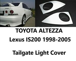 For Lexus IS300 Toyota Altezza 1998-2005 XE10 Tail Light Cover Rear Eyebrows Set