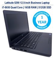Dell Latitude 12.5-inch 5290 Laptop i7-8650U 16GB 512GB SSD 1YR Dell Warranty