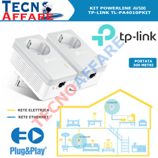 Kit Powerline AV500 Con Presa Passante 1LAN TP-Link TL-PA4010PKIT
