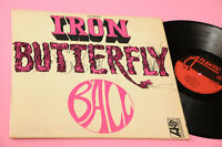 Iron Butterfly LP Ball Orig Italian 1969 EX Lamianted Cover