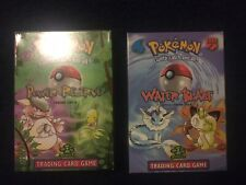 Pokemon Jungle Theme Decks Complete Power Reserve And Water Blast Opened