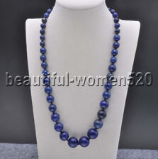 Round Bead Tower Necklace 20inch Z8186 16mm Natural Blue lapis lazuli