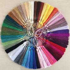 LOT (2 ou 5) POMPONS GLAND SATINÉ ** 13,5 cm ** coloris au choix - Bijoux Déco