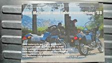 BMW-Katalog,Motorrad+Fahrerausstattung 1988